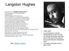 theme of English B by Langston Hughes